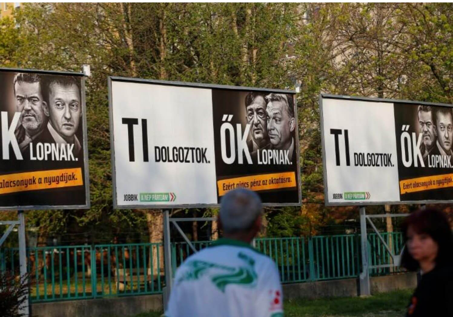 Hungary fines main opposition party over billboards